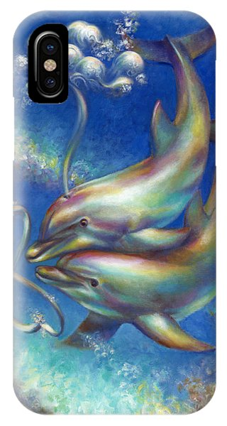 Infinity- Bottlenose Dolphins At Play IPhone Case