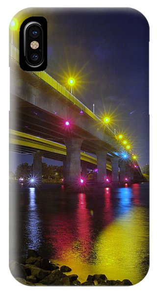 Ingraham Street Bridge At Night IPhone Case