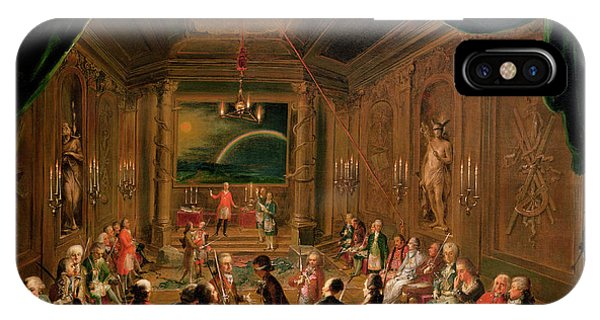 Ceremony iPhone Case - Initiation Ceremony In A Viennese Masonic Lodge During The Reign Of Joseph II, With Mozart Seated by Ignaz Unterberger