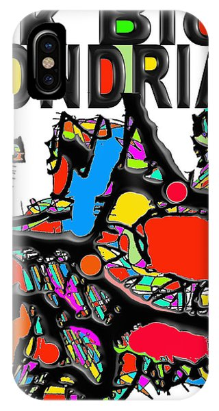 Ink Blob Mondrian IPhone Case