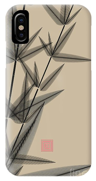 Wet iPhone Case - Ink Style Bamboo Illustration In Black by L.dep