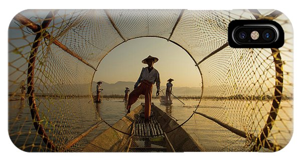 Boat iPhone Case - Inle Fisherman by Gunarto Song