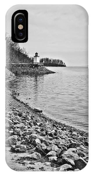 Inlet Lighthouse 3 In B/w IPhone Case
