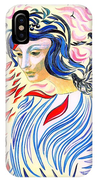 Abstract Figurative iPhone Case - Inner Peace by Jane Small