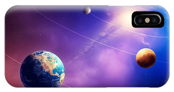 Earth Orbit iPhone Case - Inner Solar System Planets by Johan Swanepoel