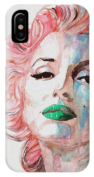 Marilyn Monroe iPhone Case - Insecure  Flawed  But Beautiful by Paul Lovering