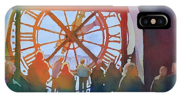 Clock iPhone Case - Inside Paris Time by Jenny Armitage
