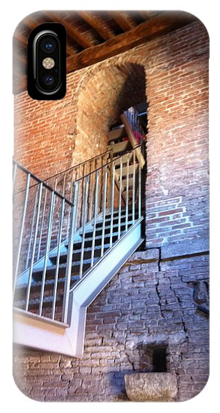Inside Stairway Of Old Tower In Lucca Italy IPhone Case