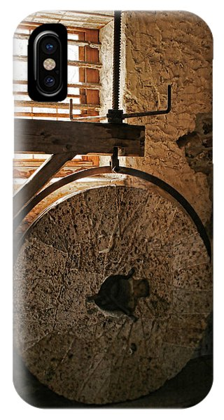 IPhone Case featuring the photograph Inside The Gristmill by Kristia Adams