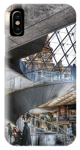 The Louvre iPhone Case - Inside The Louvre Museum In Paris by Marianna Mills