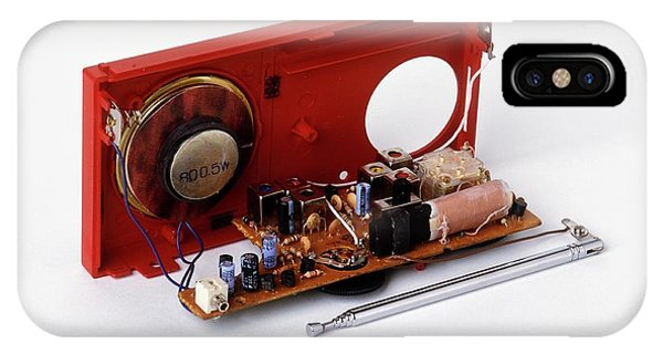 Electrical Component iPhone Case - Insides Of A Portable Radio by Dorling Kindersley/uig