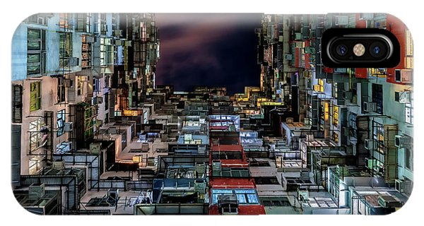 Buildings iPhone Case - Insomnia by Andreas Agazzi