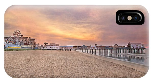 Orchard Beach iPhone Case - Inspirational Theater Old Orchard Beach  by Betsy Knapp