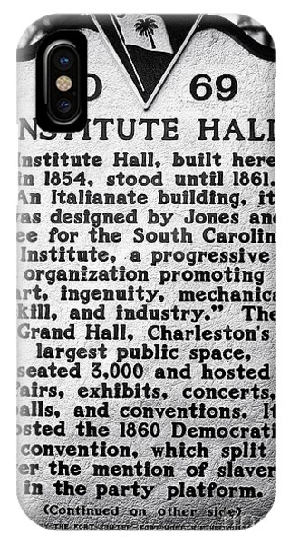 Institute Hall Memorial Phone Case by John Rizzuto