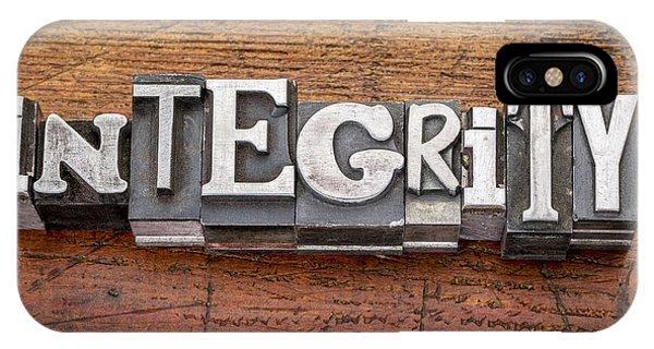 Integrity Word In Metal Type IPhone Case