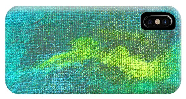 Intensity Aqua Blue Phone Case by L J Smith