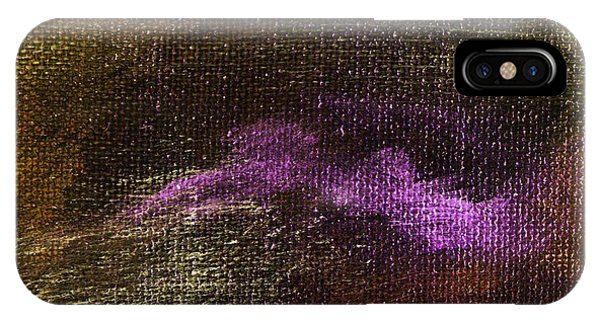 Intensity Golden Purple Phone Case by L J Smith