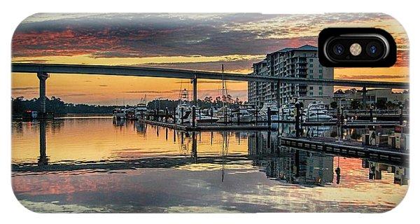 Intercoastal Waterway And The Wharf IPhone Case