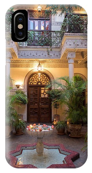 Oranger iPhone Case - Interior Courtyard Of Villa Des by Panoramic Images