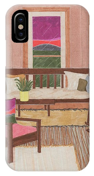 IPhone Case featuring the drawing Interior Design by Jason Girard