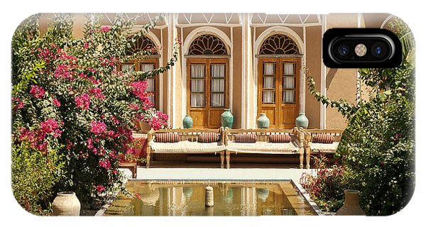 Interior Garden With Pond In Yazd Iran IPhone Case