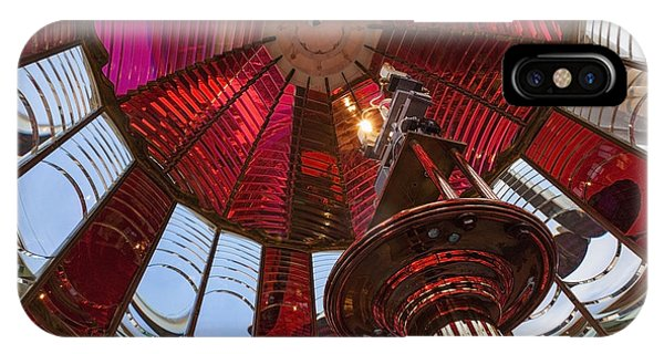 IPhone Case featuring the photograph Interior Of Fresnel Lens In Umpqua Lighthouse by Bryan Mullennix