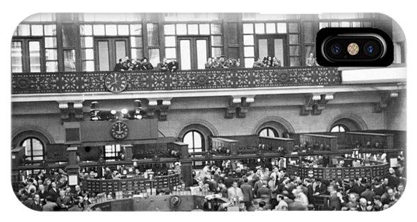 Interior Of Ny Stock Exchange IPhone Case
