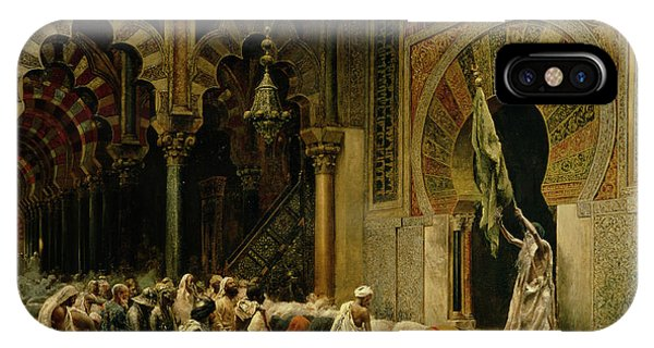Columns iPhone Case - Interior Of The Mosque At Cordoba by Edwin Lord Weeks