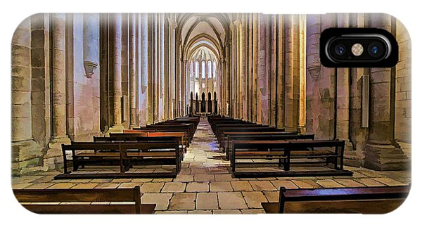 Interior Of The Monastery Da Batalha IPhone Case