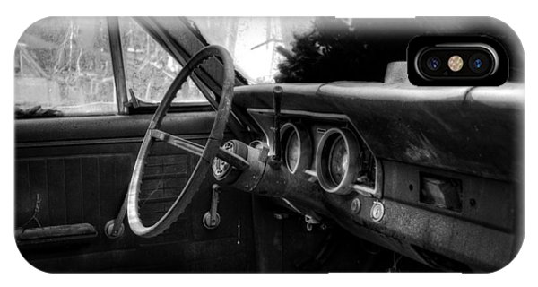 Interior Of The Past In Black And White IPhone Case