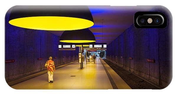 Interiors Of An Underground Station IPhone Case