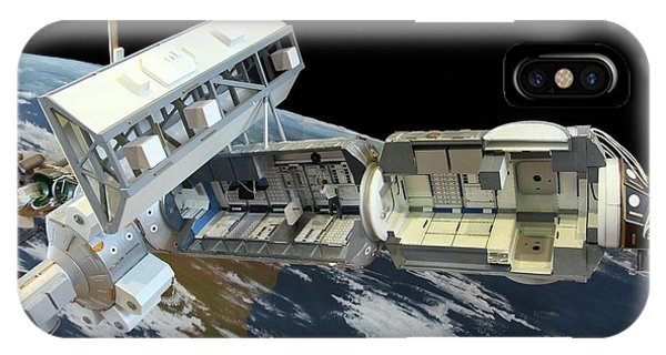 International Space Station iPhone Case - International Space Station by Detlev Van Ravenswaay