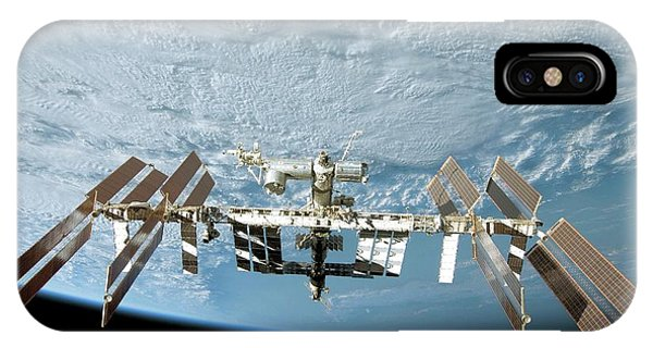 Earth Orbit iPhone Case - International Space Station by Nasa/science Photo Library