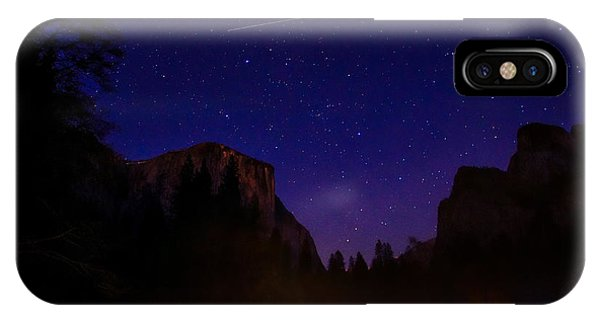 Cathedral Rock iPhone Case - International Space Station Over Yosemite National Park by Scott McGuire