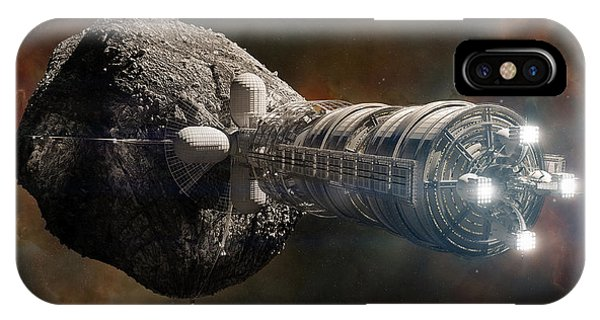 IPhone Case featuring the digital art Interstellar Colony Maker by Bryan Versteeg