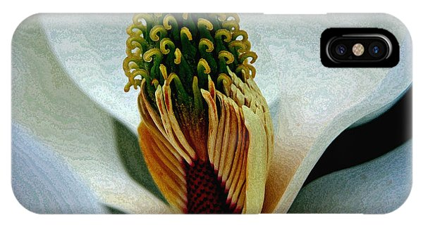 Into The Heart Of The Magnolia Drybrush IPhone Case