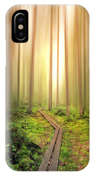 Path iPhone Case - Into The Light by Christian Lindsten