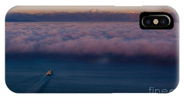 Downtown Seattle iPhone Case - Into The Mist by Mike Reid