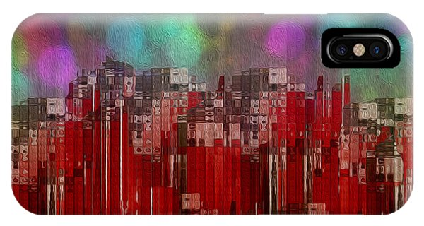 Visual Illusion iPhone Case - Into The Night Sky by Jack Zulli
