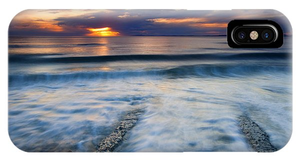 Whidbey iPhone Case - Into The Sea by Mike  Dawson