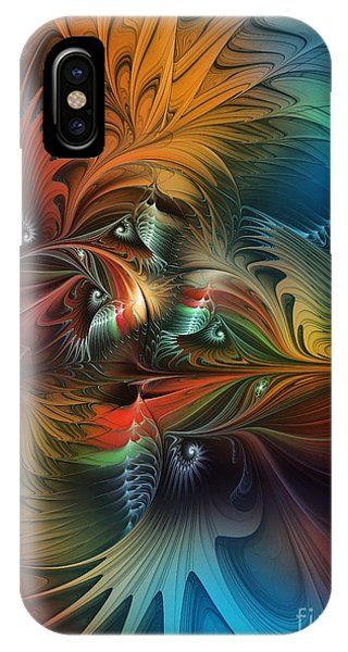 Intricate Life Paths-abstract Art IPhone Case