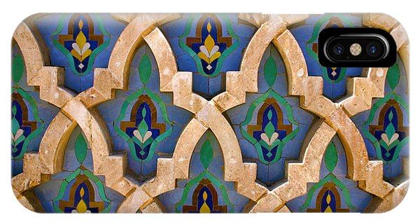 Intricate Zelji At The Hassan II Mosque Sour Jdid Casablanca Morocco IPhone Case