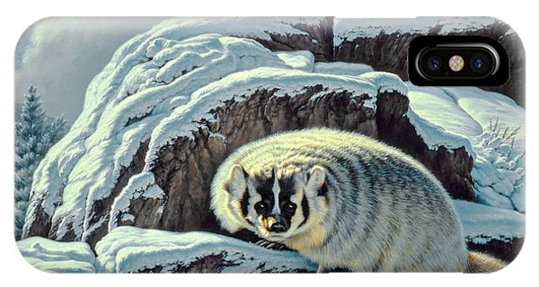 Yellowstone iPhone Case - Intrusion -  Badger by Paul Krapf
