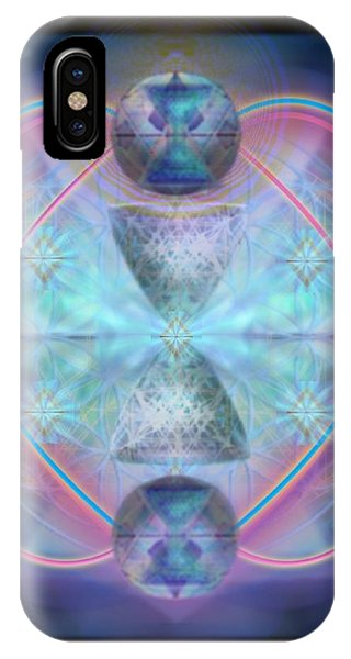 Intwined Hearts Chalice Shimmering Turquoise Vortexes IPhone Case