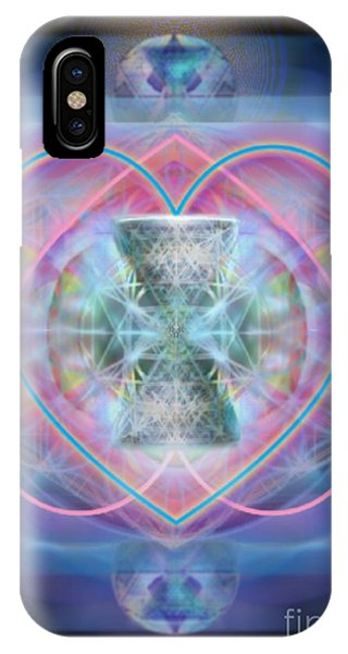Intwined Hearts Chalice Wings Of Vortexes Radiant Deep Synthesis IPhone Case