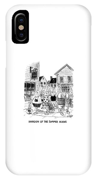 Invasion Of The Summer Aliens IPhone Case