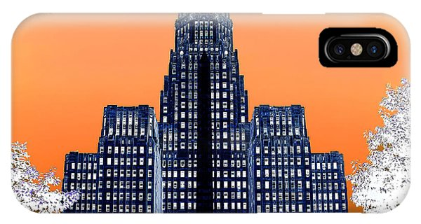 Inverted Buffalo City Hall IPhone Case