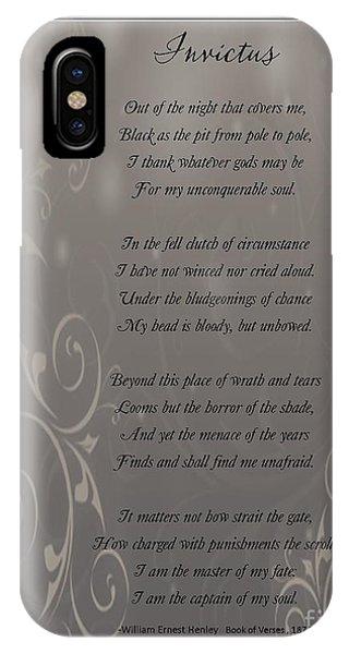 Invictus Tribute 2 IPhone Case