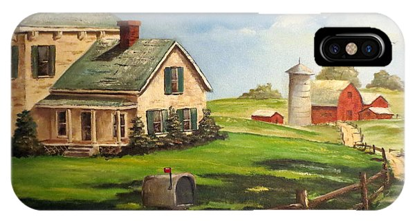 Cherokee Iowa Farm House IPhone Case