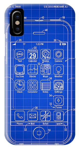 Patent iPhone Case - iPhone Patent - Blue by Stephen Younts
